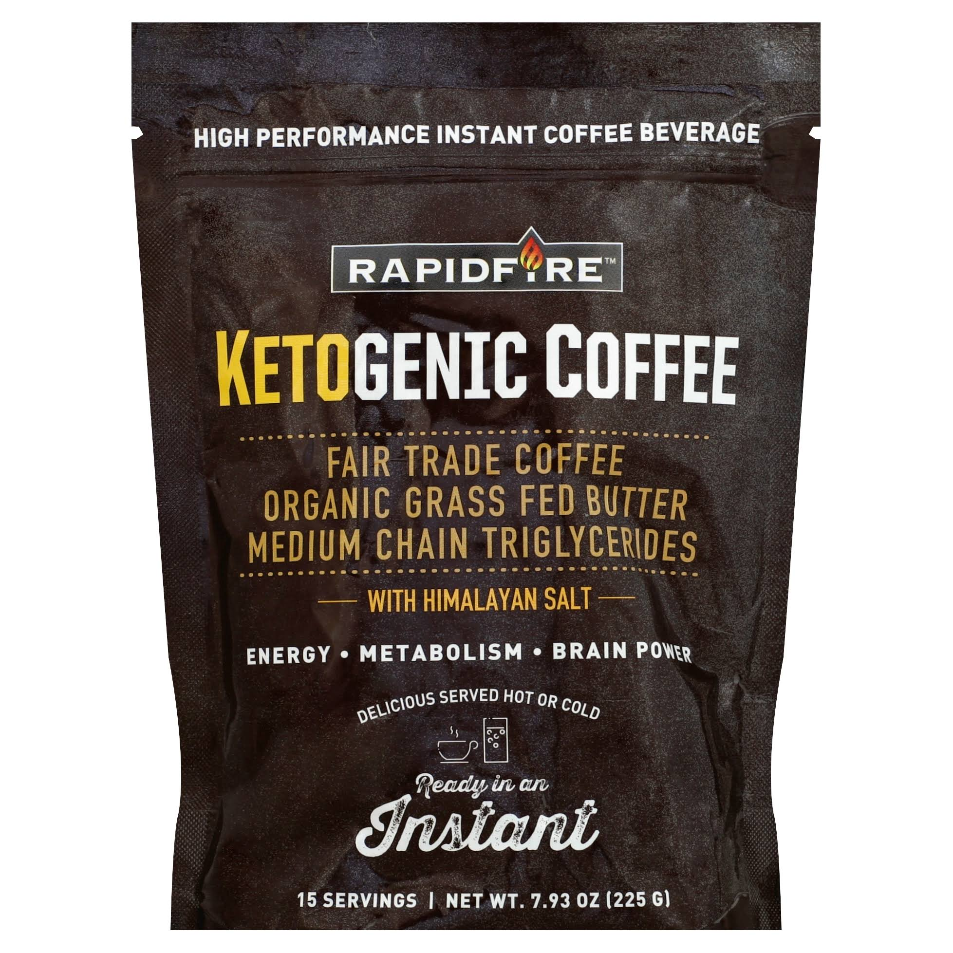 Rapidfire Coffee Beverage, Ketogenic, Instant - 7.93 oz