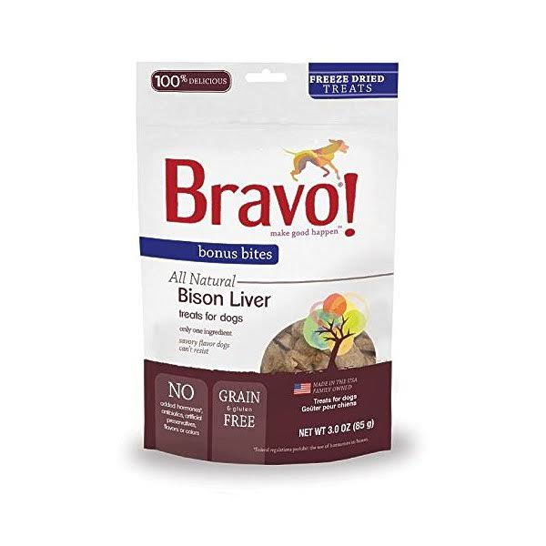 Bravo Dog Treats - Bison Liver