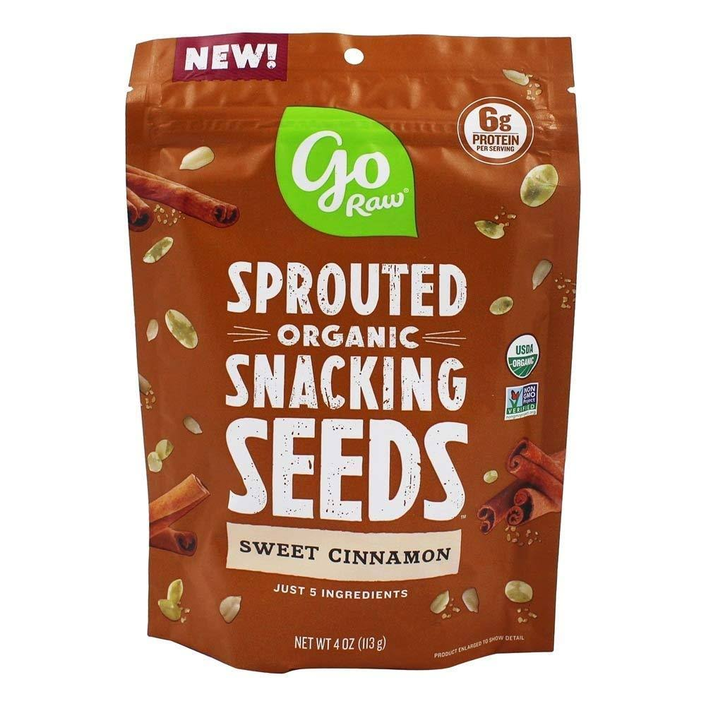 Go Raw Sprouted Organic Snacking Seeds Sweet Cinnamon 4 oz.