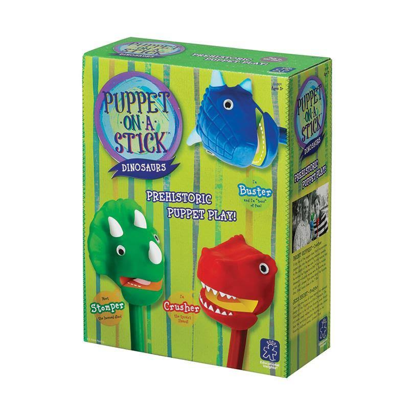 Educational Insights Dinosaurs Puppet-on-a-Stick Box of 3
