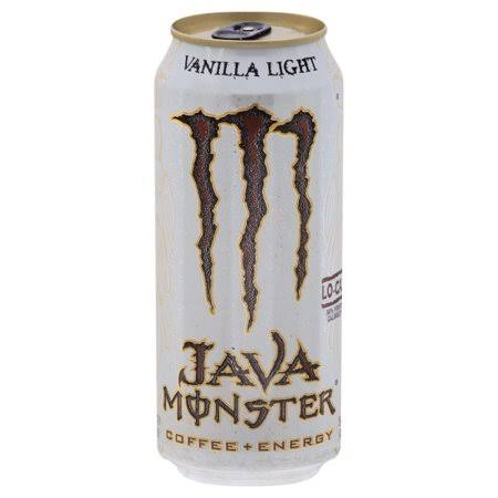 Monster Java Energy Drink - Vanilla Light, Coffee + Energy, 15oz