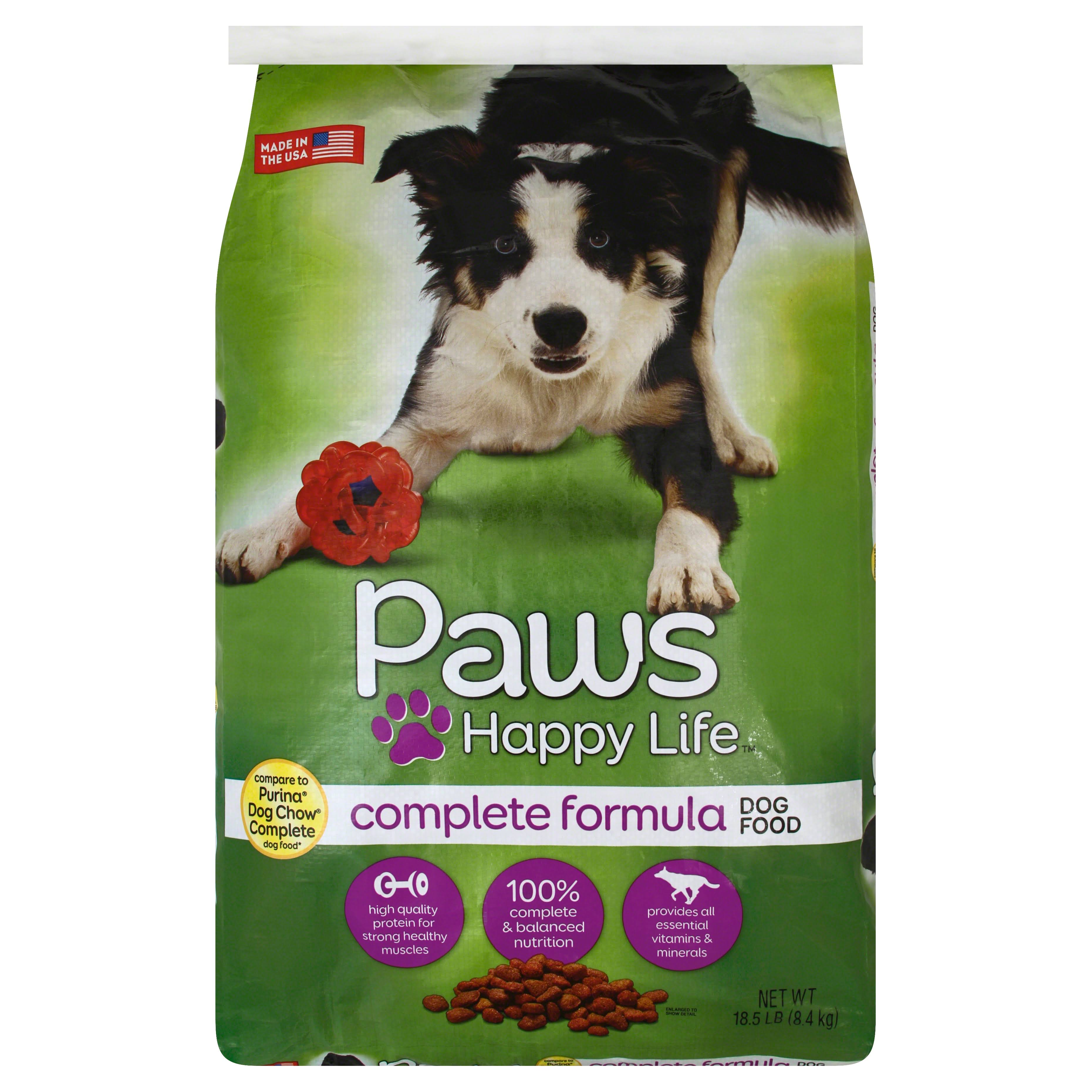Paws Happy Life Dog Food, Complete Formula - 18.5 lb