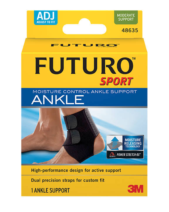 Futuro Sport Moisture Control Ankle Support - Adjust To Fit, Pack of 2