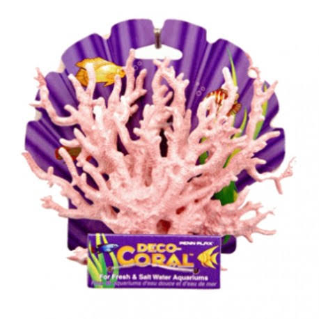 "Penn Plax Deco Coral Reef Replica Aquarium Ornament - Pink, 10"" x 7"""