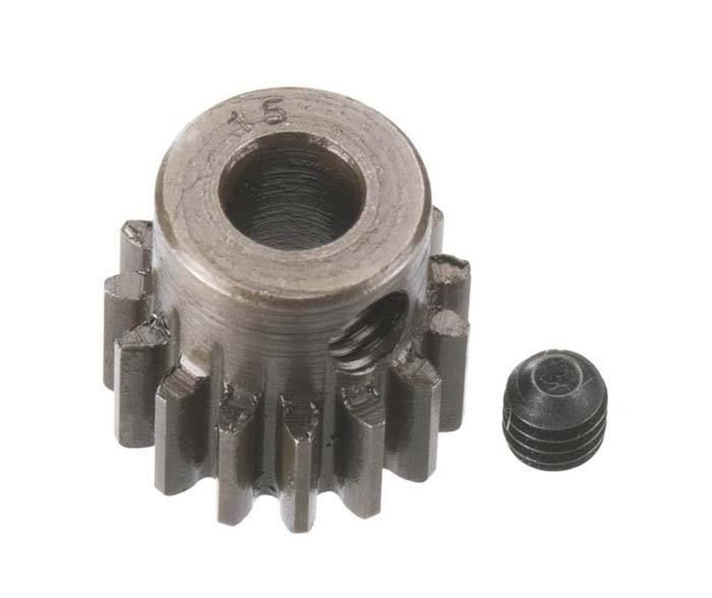 Robinson Racing Extra Hard Steel Pinion Gear - 0.8 Module, 15 Teeth, 5mm
