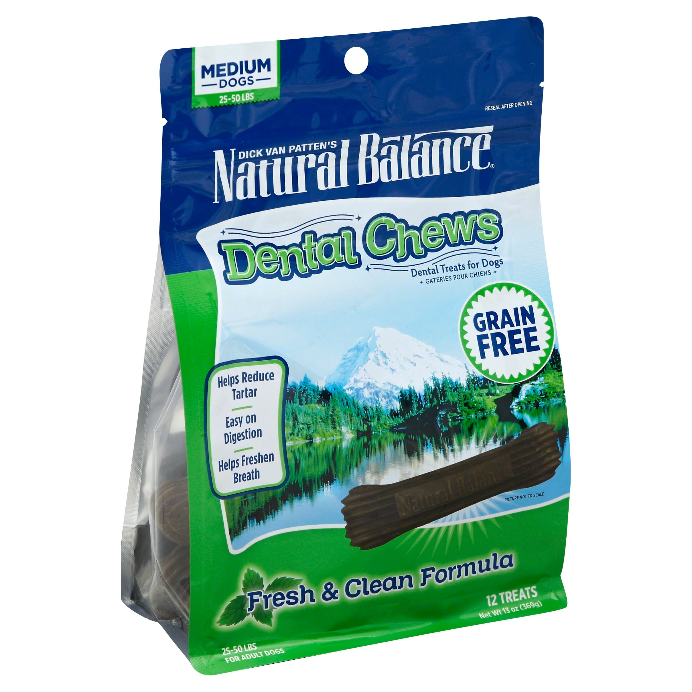 Natural Balance Dental Chews - L.I.T With Duck Meal, Small to Medium, 22 Treats, 369g