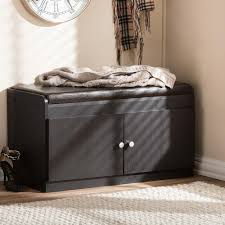 Baxton Shoe Storage Cabinet by Baxton Studio Harding Wood Shoe Storage Cabinet In Dark Brown