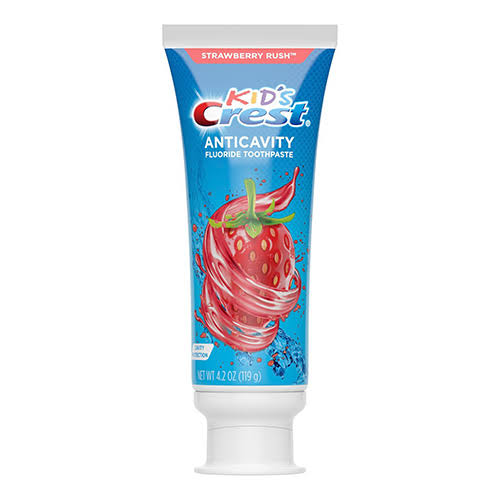 Crest Kids Toothpaste, Fluoride Anticavity, Cavity Protection, Strawberry Rush - 4.2 oz