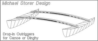 drop in outrigger plan for canoes kayaks dinghies videos