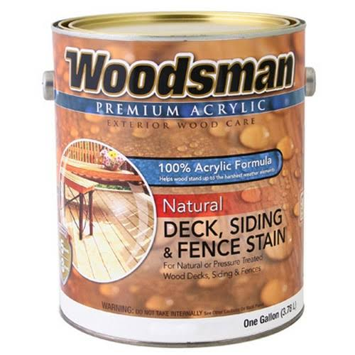 True Value Acrylic Deck Siding and Fence Stain - Natural, 1 Gallon