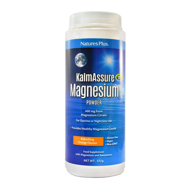 Nature's Plus KalmAssure Magnesium Powder Supplement - Natural Orange, 400mg, 1.15lbs