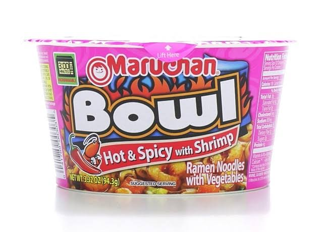 Maruchan Bowl Hot & Spicy with Shrimp Ramen Noodle Soup