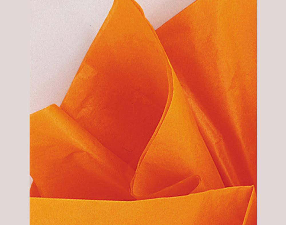 Unique Industries Designer Tissue Gift Wrap - Orange, 10 Sheets