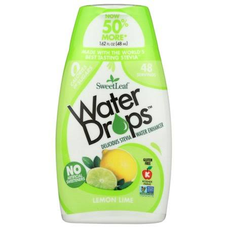 Sweet Leaf Water Drops Water Enhancer, Delicious Stevia, Lemon Lime - 1.62 fl oz