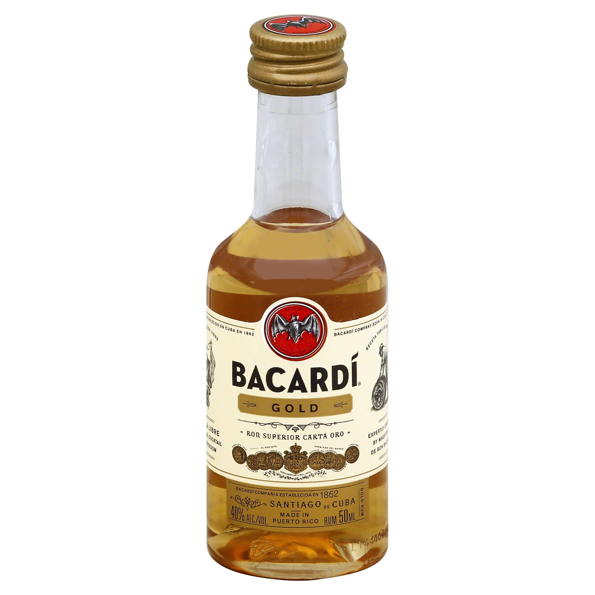 Bacardi Gold Rum - 50 ml bottle