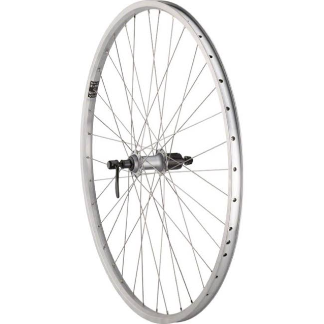 Quality Wheels Rear Value XL Rim Brake 700c 135mm QR Velocity NoBS Raw / Shimano T3000 Silver / DT Factory