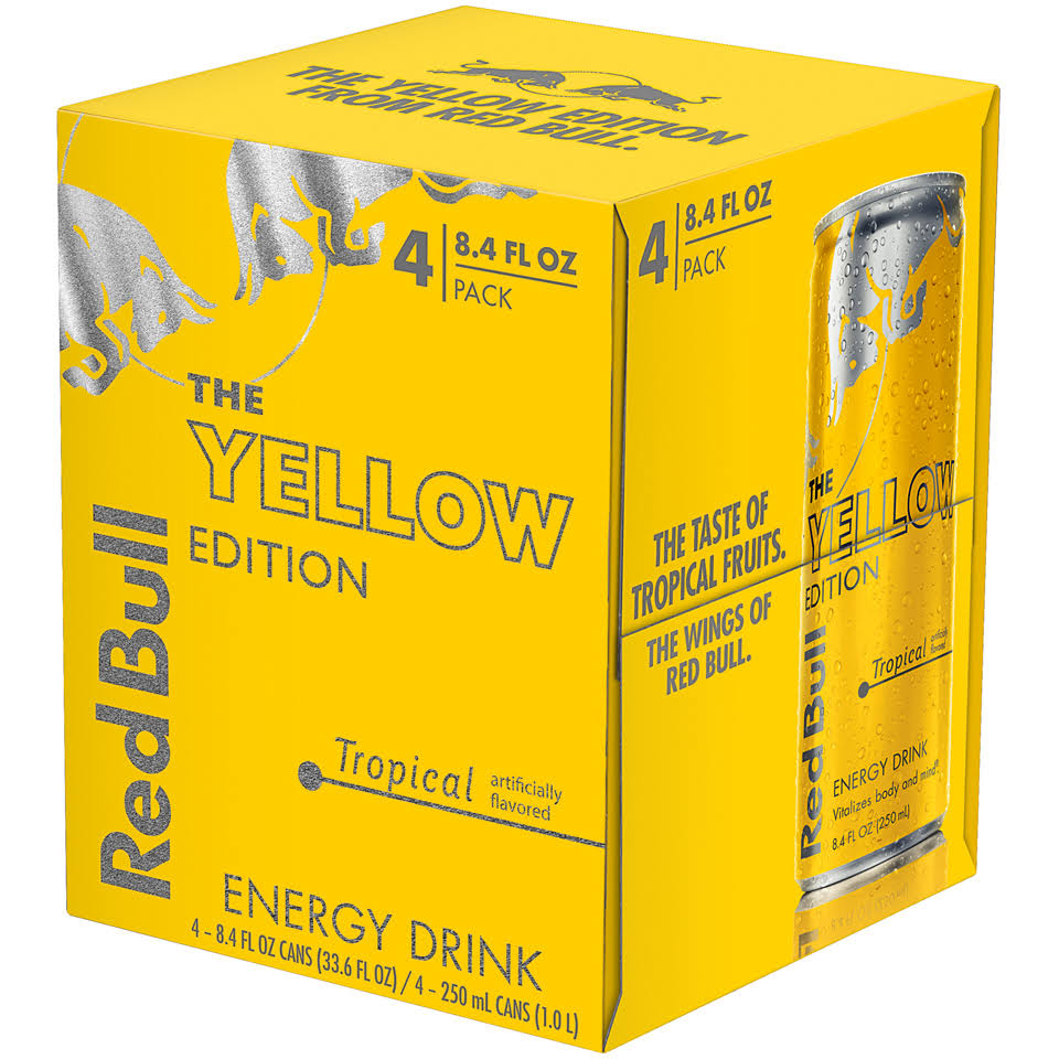 Red Bull The Yellow Edition Energy Drink - Tropical, 8.4oz