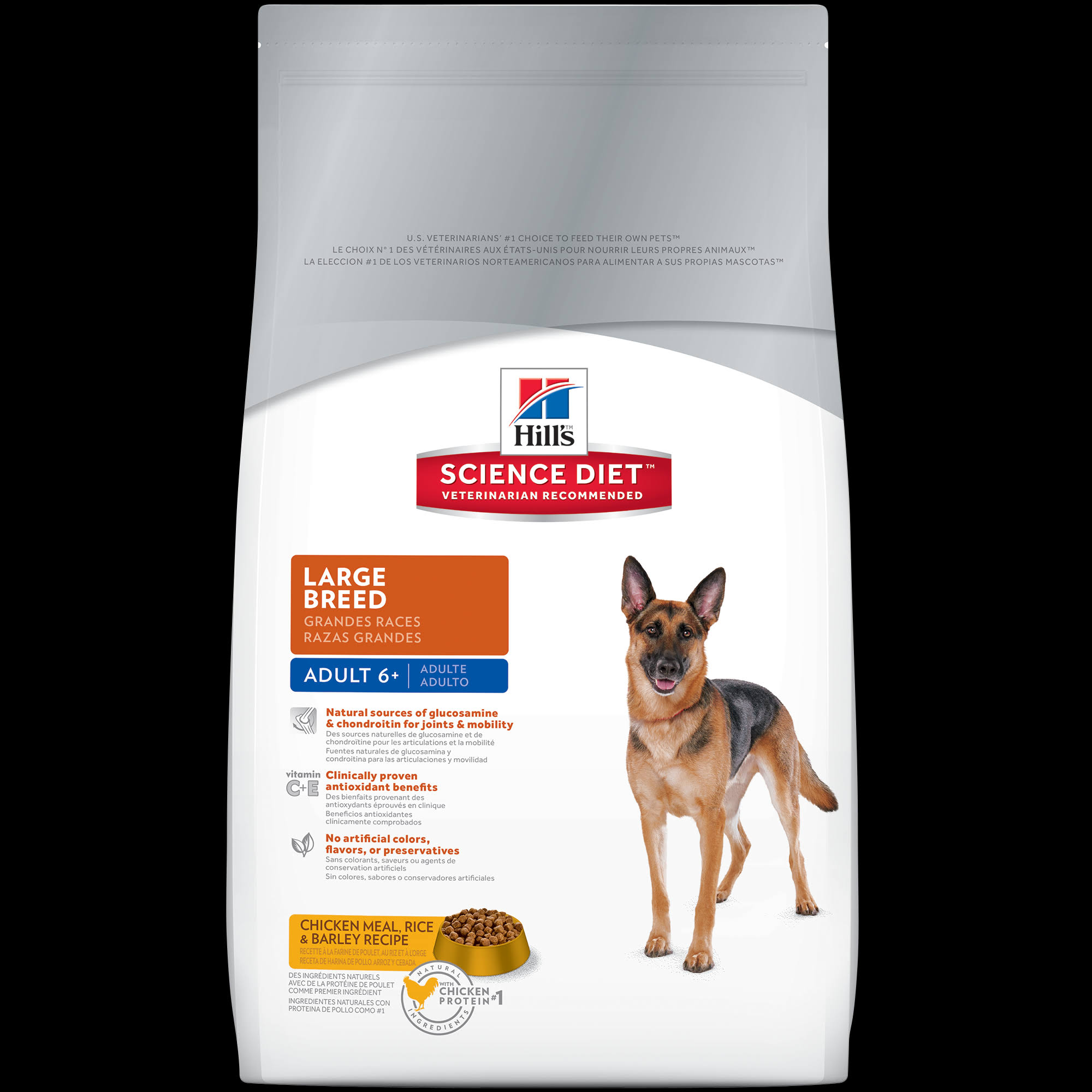 Hill's Science Diet Large Breed Premium Natural Dog Food - Chicken Meal, Rice and Barley Recipe, 33lb