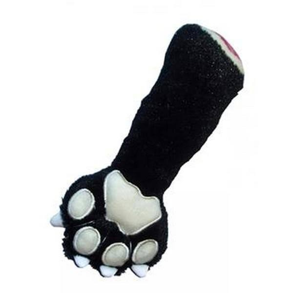 (9.5 Inch, Black) Hip Doggie Black Panther Claw Dog Toy