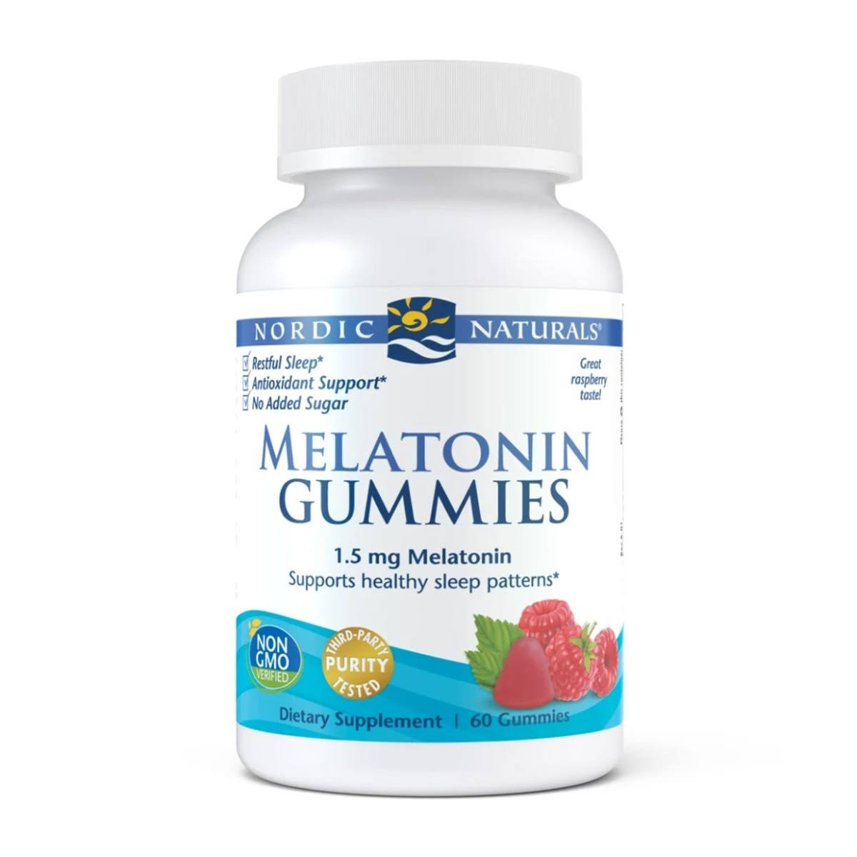 Nordic Naturals Melatonin Gummies Dietary Supplement - Raspberry Flavor, 60ct