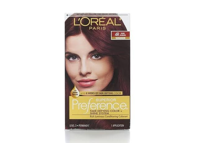 Loreal Superior Preference Auburn Warmer Permanent Hair Color - 4r Dark