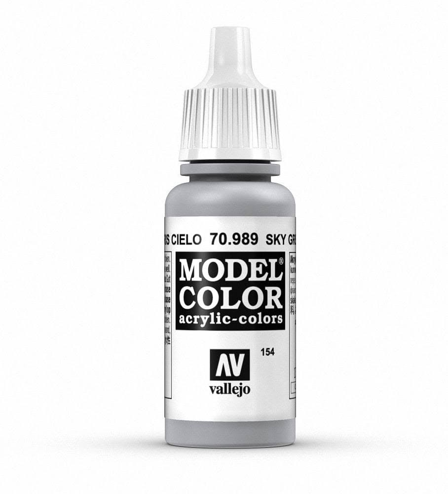 Vallejo Acrylic Paint - 989 Sky Grey, 17ml