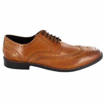 Nunn Bush Men's Nelson Wingtip Oxford Dress Shoes - Brown, 9 USM
