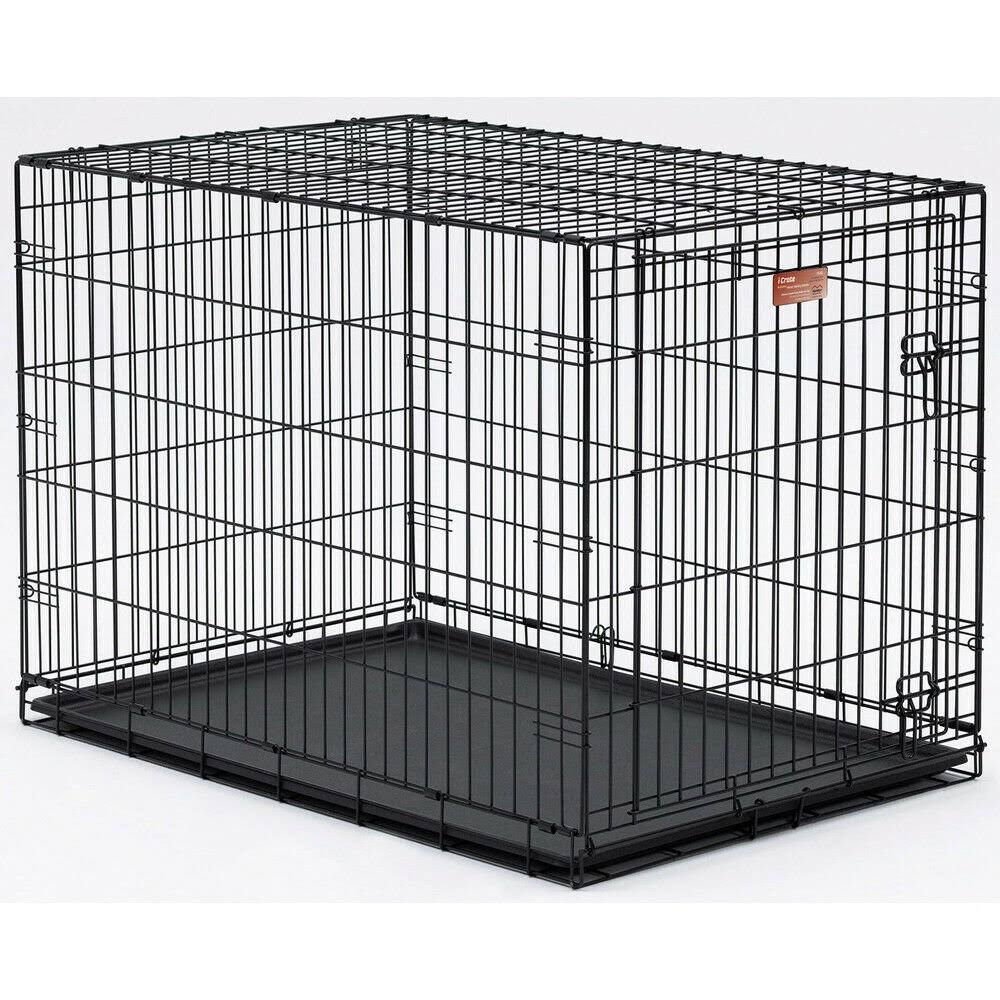 "Folding Dog Crate Kennel Cage with Divider Midwest Crate - 42"" x 28"" x 30"""