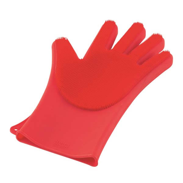 Kuhn Rikon Stay Clean Silicone Scrubber Glove in Red