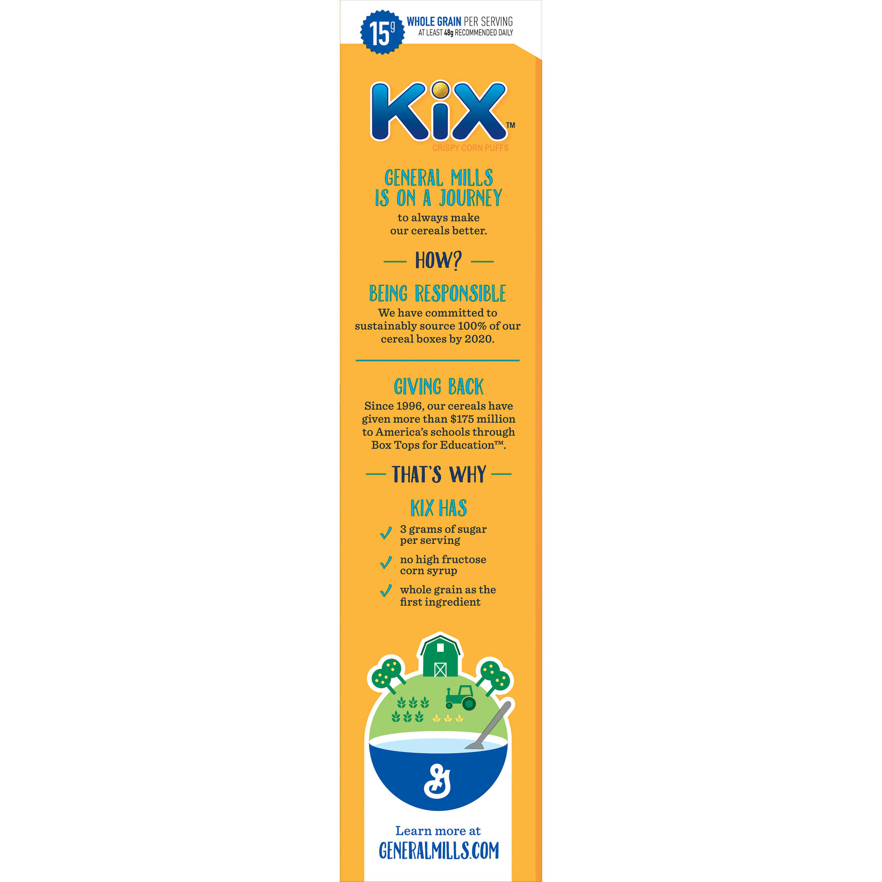 General Mills Kix Crispy Corn Puffs - 18 oz