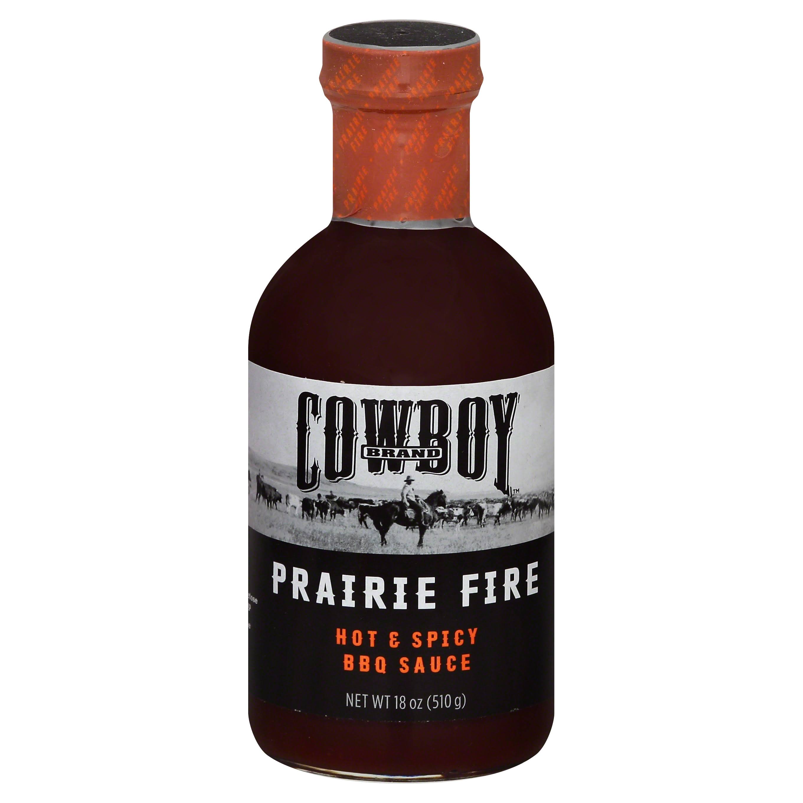 Cowboy Prairie Fire BBQ Sauce - Hot and Spicy, 18oz
