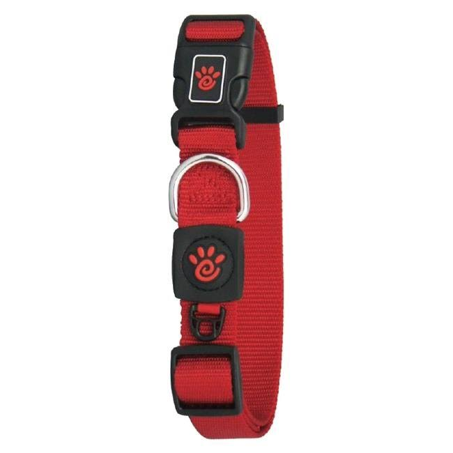 Doco DCSN1072-03M 6 ft. Signature Nylon Leash Dog Collar Red - Medium
