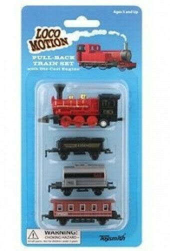 Toysmith Locomotion Pull-Back Train Set