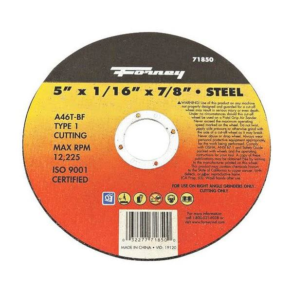 Forney Steel Cut-Off Wheel - 5 x 1/16 x 7/8''