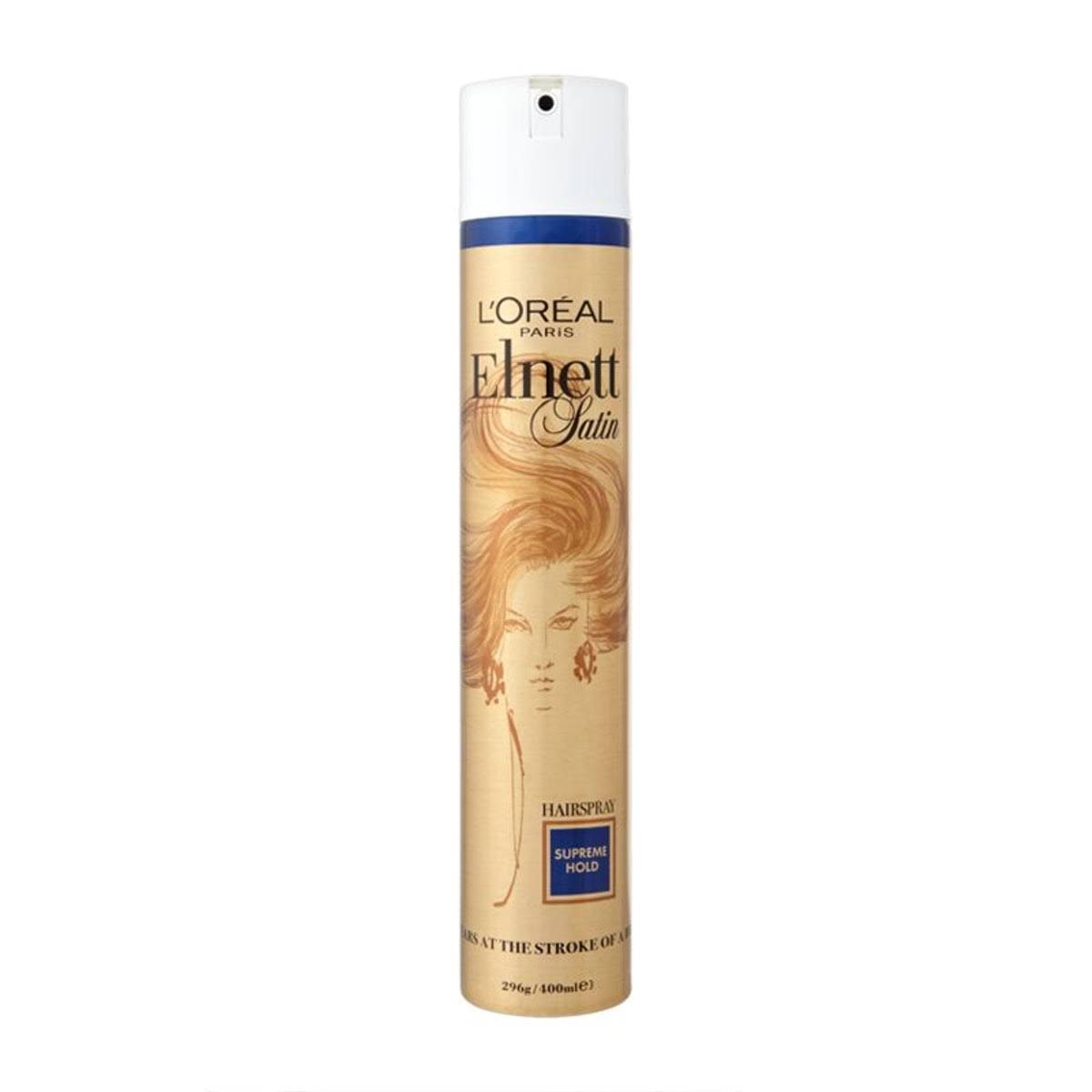 L'Oreal Elnett Hair Spray - Supreme Hold, 400ml
