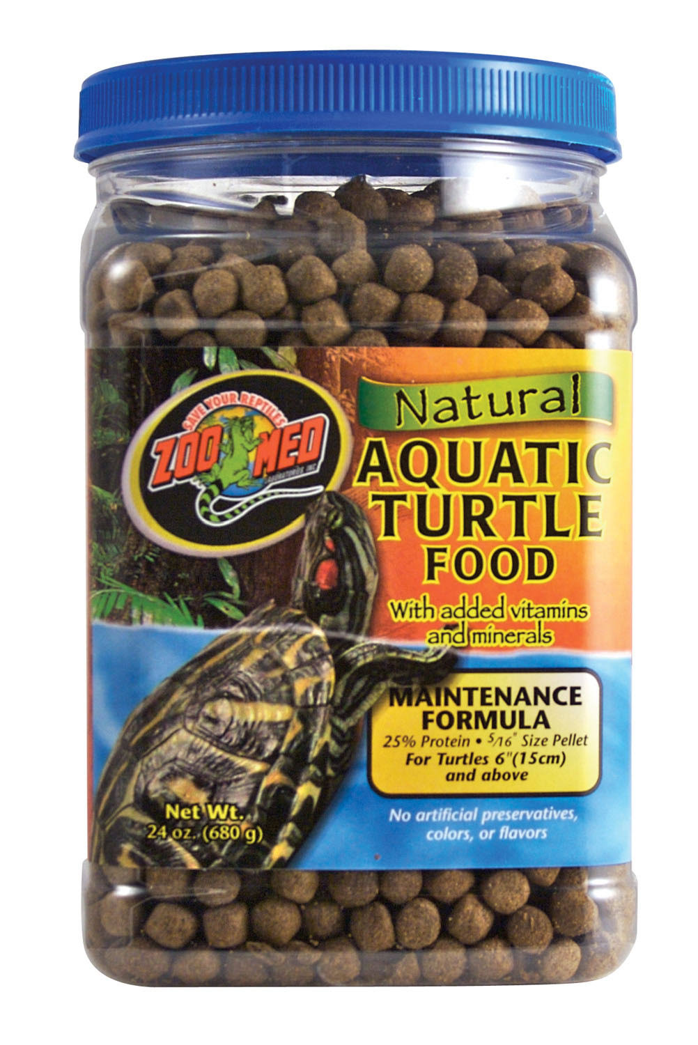 Zoo Med Natural Aquatic Turtle Food Maintenance Formula - 24oz