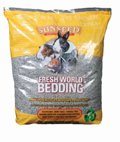Sunseed Fresh World Pet Bedding - Gray, 2130 cu in