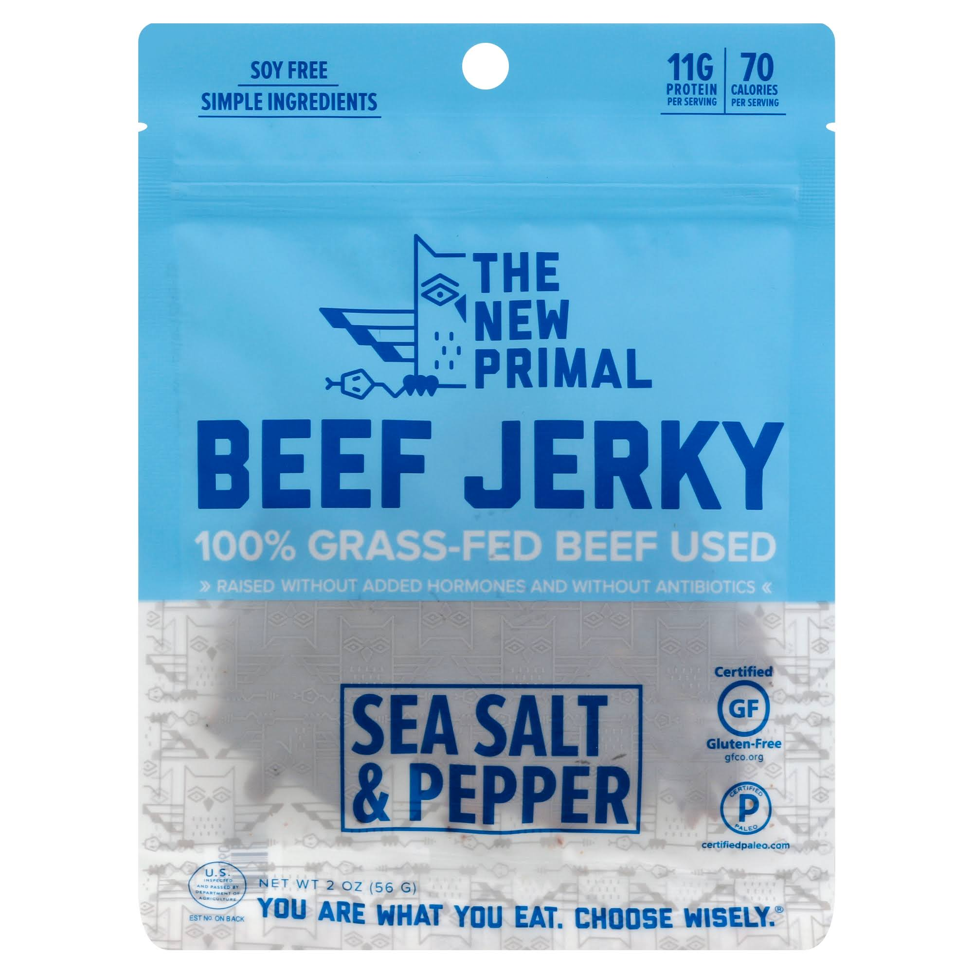The New Primal Grass-Fed Beef Jerky - Smoke