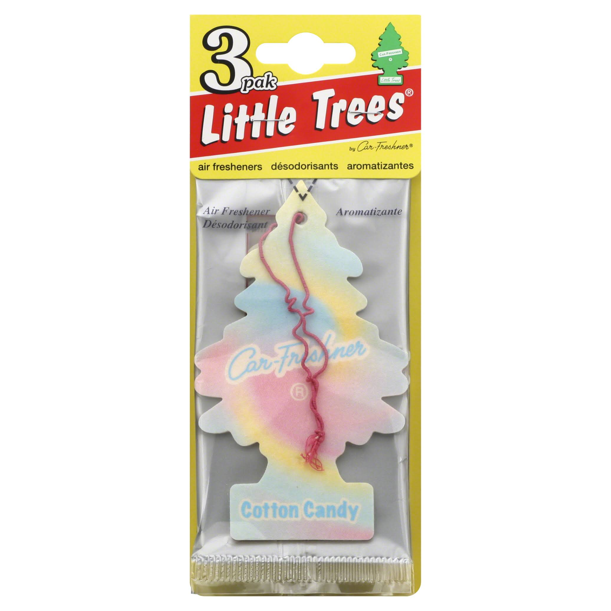 Little Trees Air Fresheners, Cotton Candy - 3 air freshener
