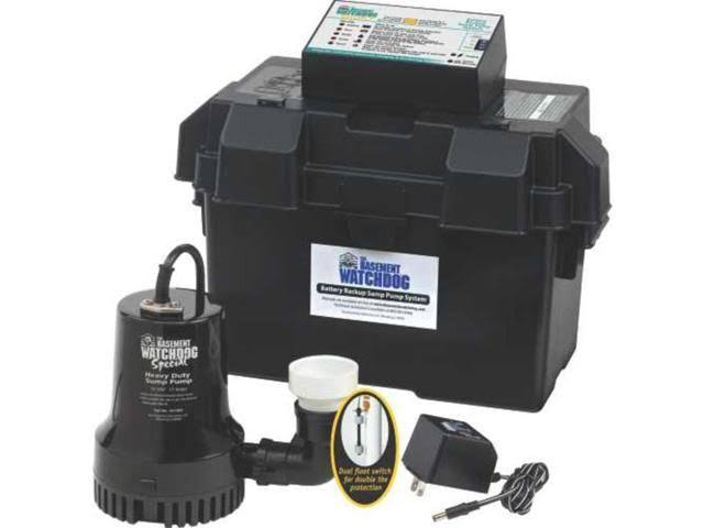 Basement Watchdog Special Battery Backup Sump Pump System - 0.33hp