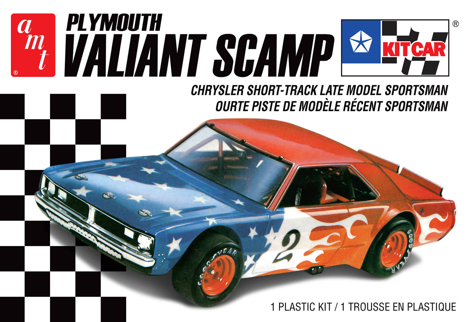 Amt AMT1171 Plymouth Valiant Scamp Kit - 1/25 Scale