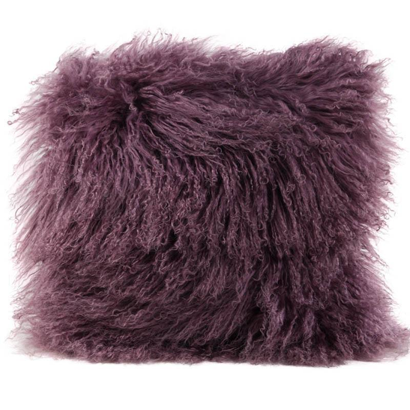 "Auskin USA Tibetan Sheepskin Cushion - Bloom - 16"" Square, 16"" Square"