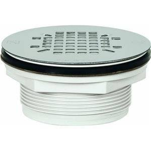 Sioux Chief Shower Drain No Caulk 18 Gauge Stainless Steel Strainer - 2""