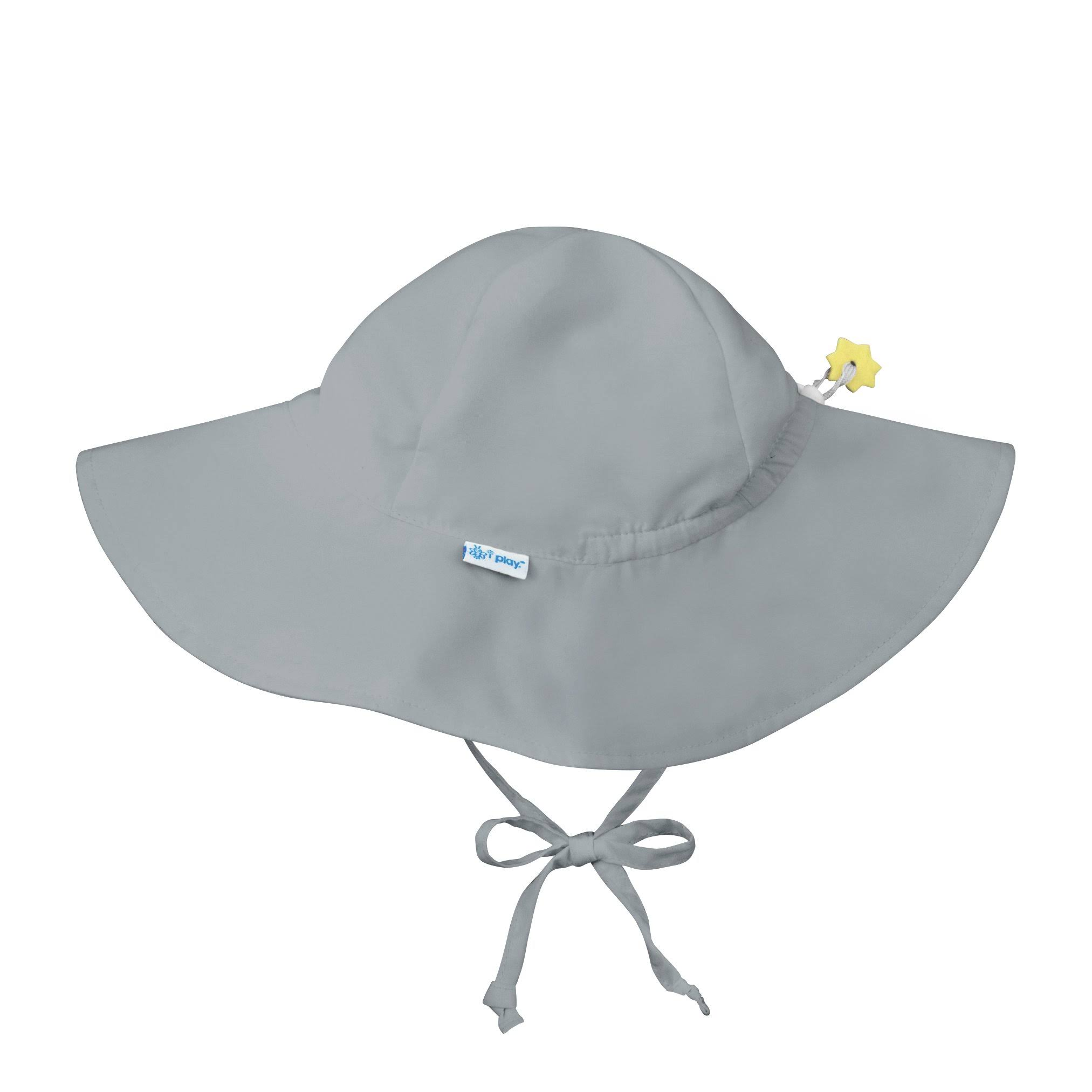 I Play - Brim Sun Protection Hat - Gray-2T/4T