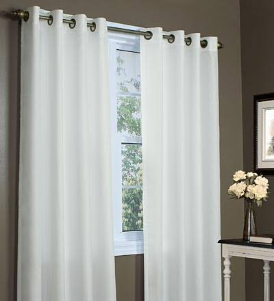 "Commonwealth Thermavoile 84"" Grommet Curtain Panel in Ivory"