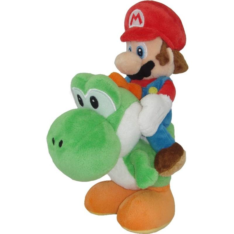 Nintendo Super Mario Plush Mario and Yoshi Plush - 8""