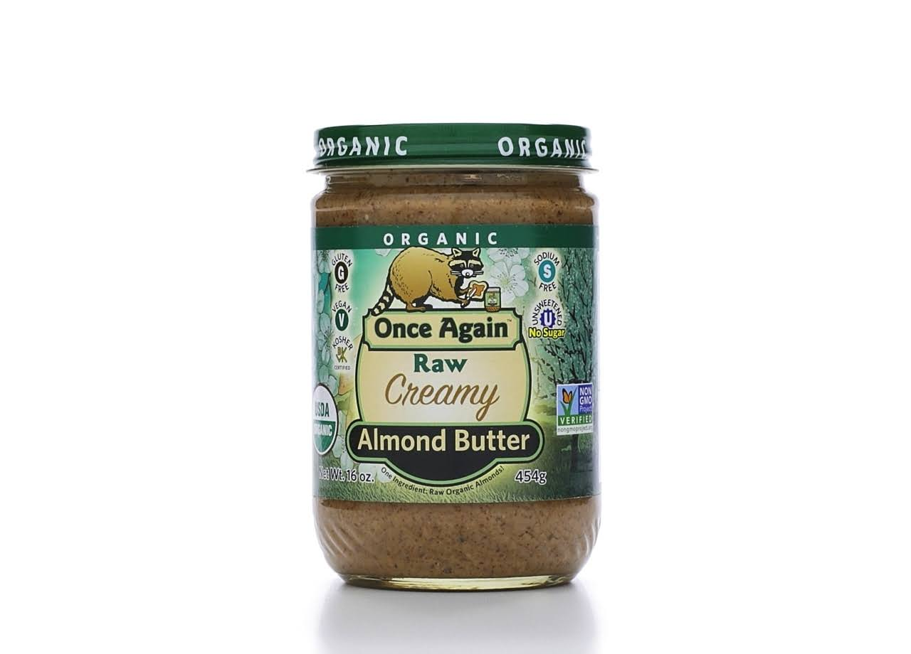 Once Again Organic Smooth Raw Almond Butter - 454g