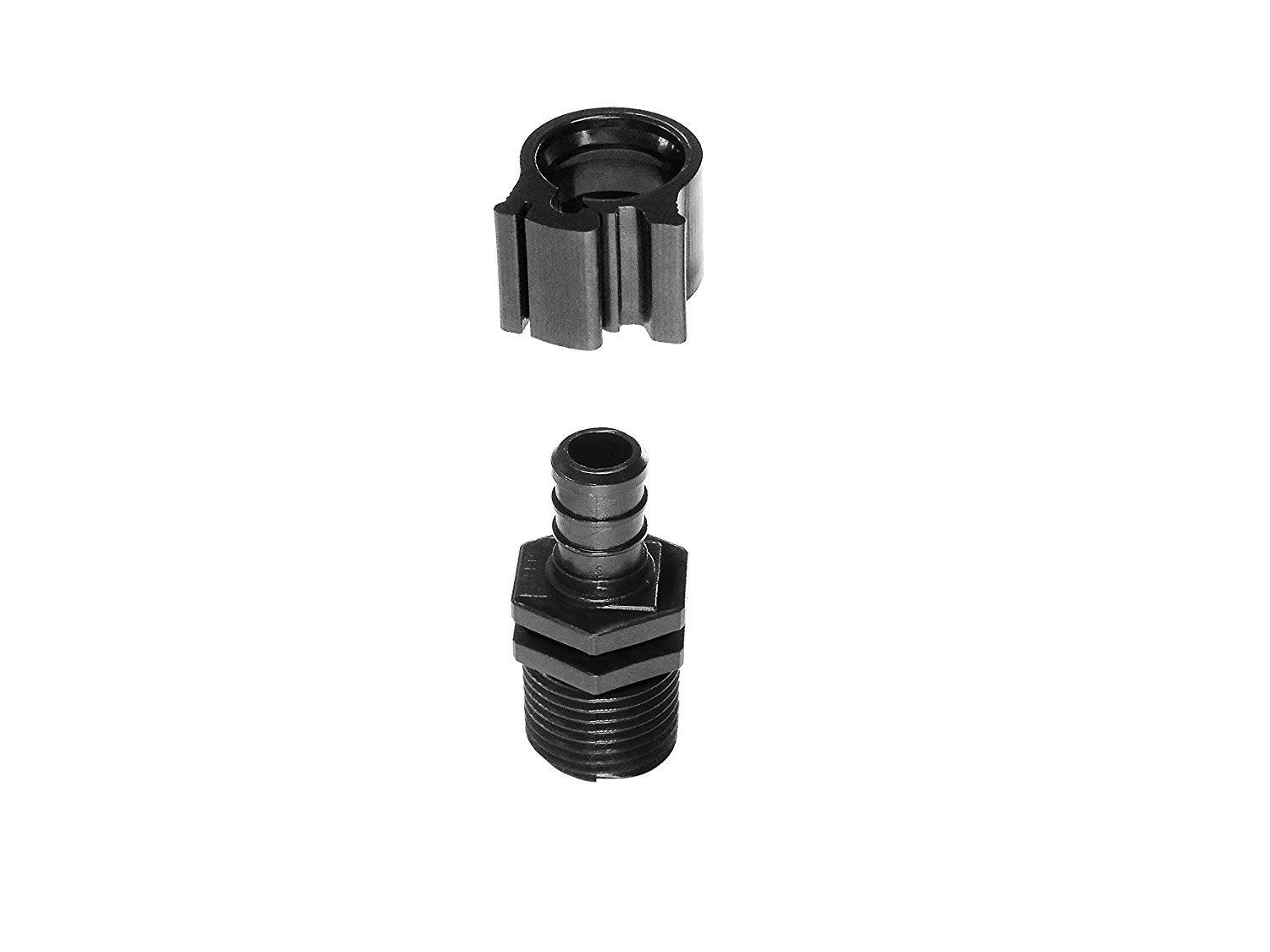 Pexlock 30842 Flair It Male Adapter - Black, 1/2""