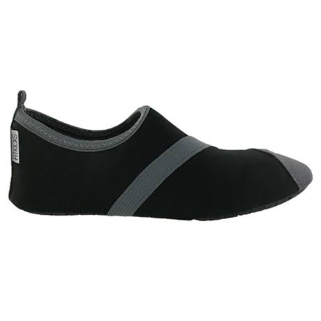 Fitkicks Active Footwear Women's Slip-On Shoes - Black - L 8.5-9.5