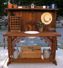 dishfunctional designs salvaged wood u0026 pallet potting benches